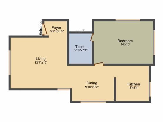Aratt Royal Manor (1BHK+1T (639 sq ft) Apartment 639 sq ft)