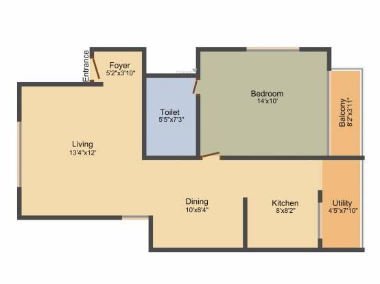 Aratt Royal Manor (1BHK+1T (752 sq ft) Apartment 752 sq ft)