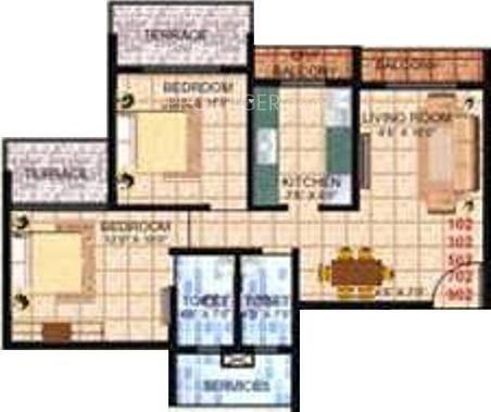 Bhagwati Hari Heights (2BHK+2T (1,080 sq ft) Apartment 1080 sq ft)