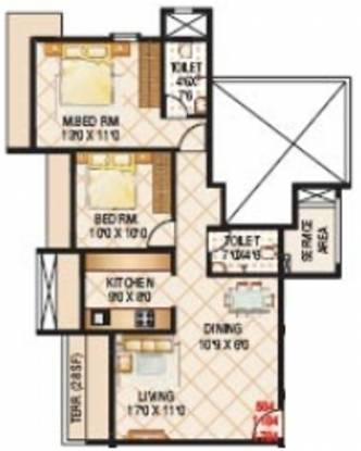 B and M Millennium Avanish (2BHK+2T (1,420 sq ft) Apartment 1420 sq ft)