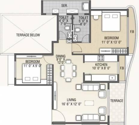 B and M Atlantis (2BHK+2T (1,200 sq ft) Apartment 1200 sq ft)