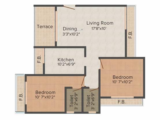 Sadguru Platinum (2BHK+2T (1,200 sq ft) Apartment 1200 sq ft)