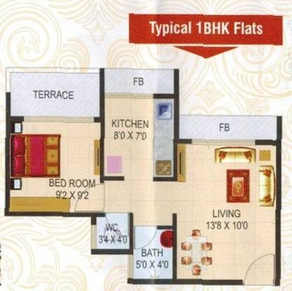 Giriraj Silverstar (1BHK+1T (525 sq ft) Apartment 525 sq ft)