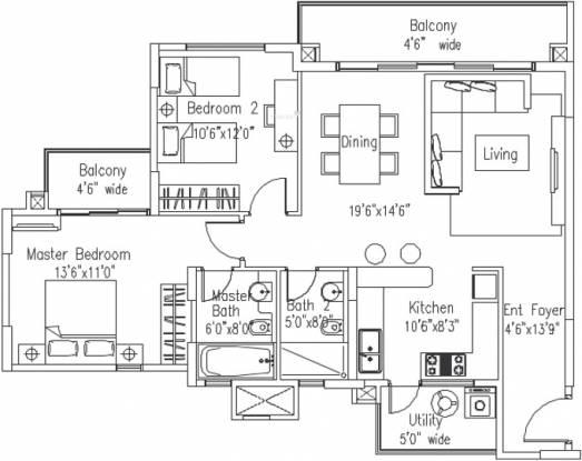 Elita Promenade (2BHK+2T (1,275 sq ft) Apartment 1275 sq ft)