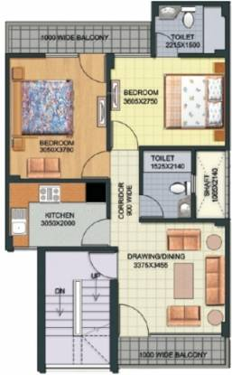 Aditya Gracious Floors (2BHK+2T (738 sq ft) Apartment 738 sq ft)