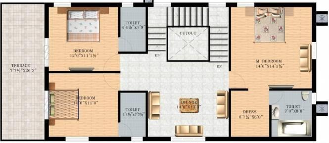 Vasudeva Bloomfield Ecstasy (4BHK+5T (3,150 sq ft)   Servant Room Villa 3150 sq ft)