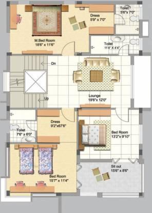 Manjeera Purple Town (4BHK+5T (2,820 sq ft)   Servant Room Villa 2820 sq ft)