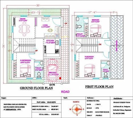 Praneeth Greenfield (3BHK+3T (1,352 sq ft) Villa 1352 sq ft)