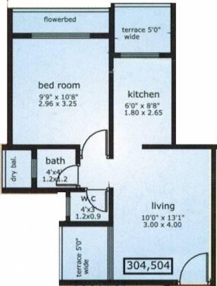 Om Sai Srishti (1BHK+1T (660 sq ft) Apartment 660 sq ft)