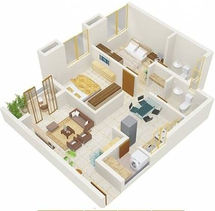 Amanora Trendy Homes (2BHK+2T (850 sq ft) Apartment 850 sq ft)