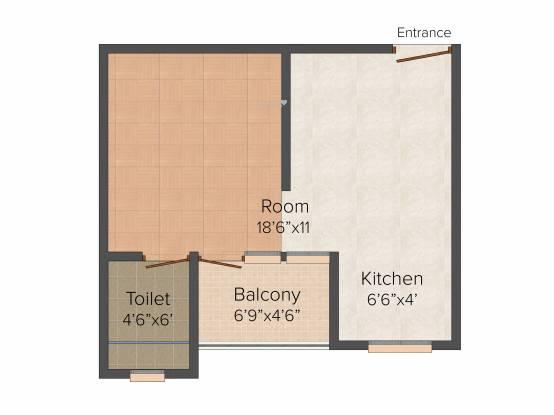 Shubhkamna Loginn Serviced Apartments (1BHK+1T (500 sq ft) Apartment 500 sq ft)