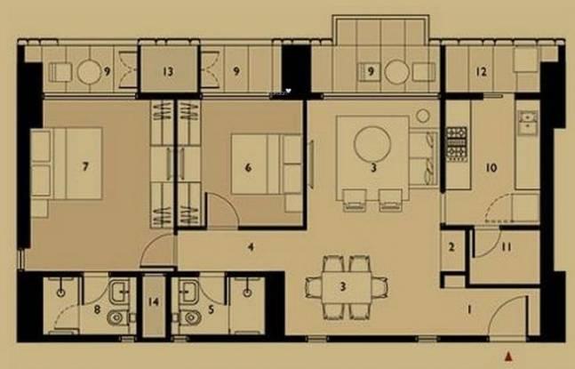 Lodha Elisium (2BHK+2T (1,431 sq ft) Apartment 1431 sq ft)