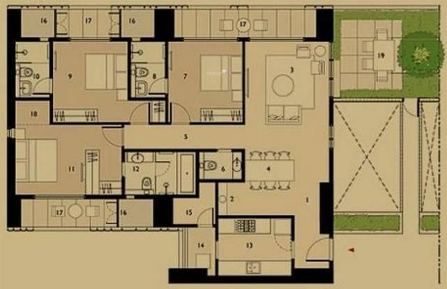 Lodha Elisium (3BHK+3T (1,683 sq ft) Apartment 1683 sq ft)