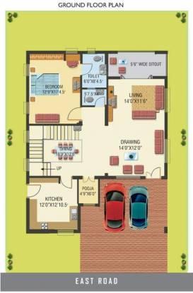 Guru Beverly Palms (4BHK+4T (3,800 sq ft)   Pooja Room Villa 3800 sq ft)