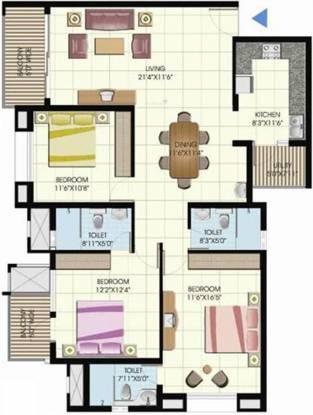 Emmanuel Meadows (3BHK+3T (1,504 sq ft) Apartment 1504 sq ft)