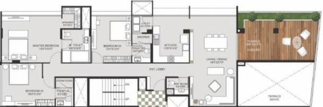 Marvel Crest (3BHK+3T (2,530 sq ft) Apartment 2530 sq ft)