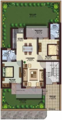 Ansal Sushant Residency (2BHK+2T (781 sq ft) Apartment 781 sq ft)