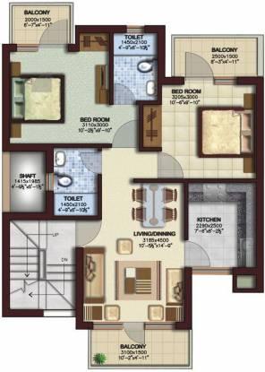 Ansal Sushant Residency (2BHK+2T (785 sq ft) Apartment 785 sq ft)