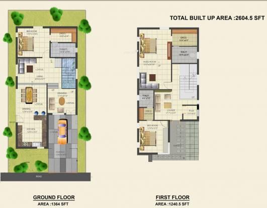 Dhaatri Lunetta Villas (3BHK+3T (2,600 sq ft)   Pooja Room Villa 2600 sq ft)