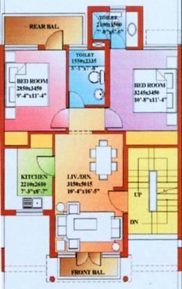Ansal Sushant Floors (3BHK+3T (1,075 sq ft) Apartment 1075 sq ft)