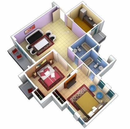 Ansal Green Escape (2BHK+2T (1,420 sq ft) Apartment 1420 sq ft)
