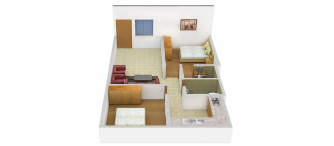 Antony Mon Reve (2BHK+2T (792 sq ft) Apartment 792 sq ft)