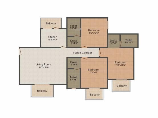 ATS Pristine (3BHK+3T (1,750 sq ft) Apartment 1750 sq ft)