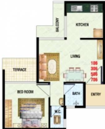 Satyam Heritage (1BHK+1T (650 sq ft) Apartment 650 sq ft)