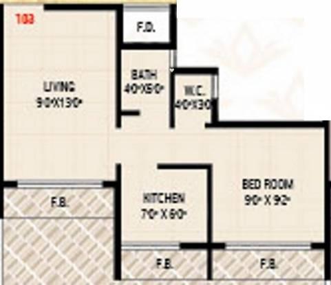 Today Sai Vrindavan (1BHK+1T (520 sq ft) Apartment 520 sq ft)