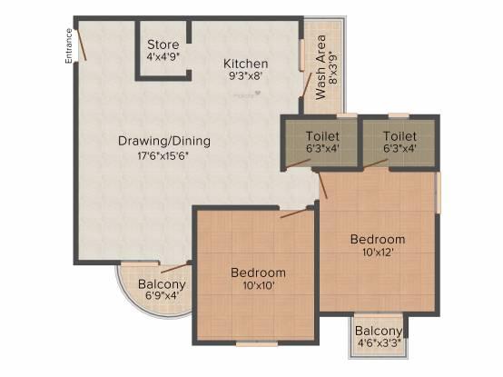 Shree Siddhi Ganesh Genesis (2BHK+2T (1,260 sq ft) Apartment 1260 sq ft)