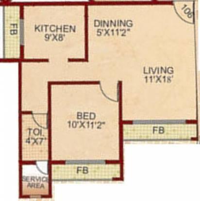 Zenith Bhoomi Harmony (1BHK+1T (948 sq ft) Apartment 948 sq ft)