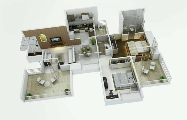 AG Gracia (2BHK+2T (1,070 sq ft) Apartment 1070 sq ft)