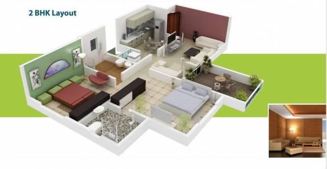 Ratan Neptune (2BHK+2T (910 sq ft) Apartment 910 sq ft)