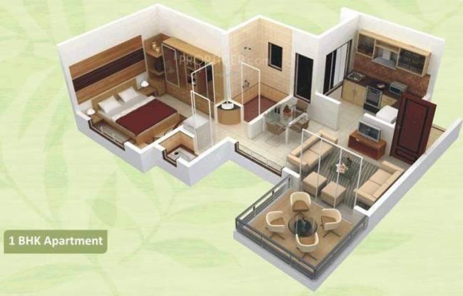Arihant Green City (1BHK+2T (605 sq ft) Apartment 605 sq ft)
