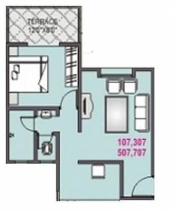 BK SunShine (1BHK+1T (632 sq ft) Apartment 632 sq ft)
