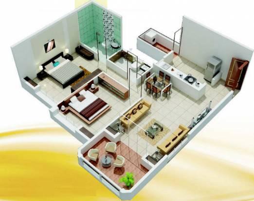 Gulmohar Goldcoast (2BHK+2T (1,044 sq ft) Apartment 1044 sq ft)