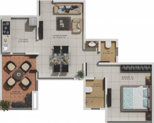 5 Star Royal Entrada (1BHK+1T (650 sq ft) Apartment 650 sq ft)
