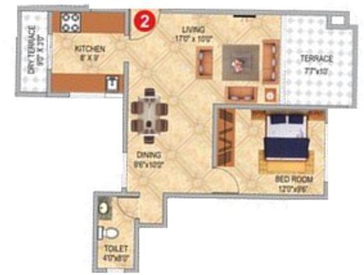Pharande Celestial City (1BHK+1T (788 sq ft) Apartment 788 sq ft)
