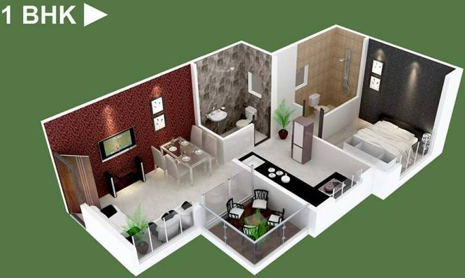 Venkatesh Oxy Valley Phase 2 (1BHK+1T (760 sq ft) Apartment 760 sq ft)