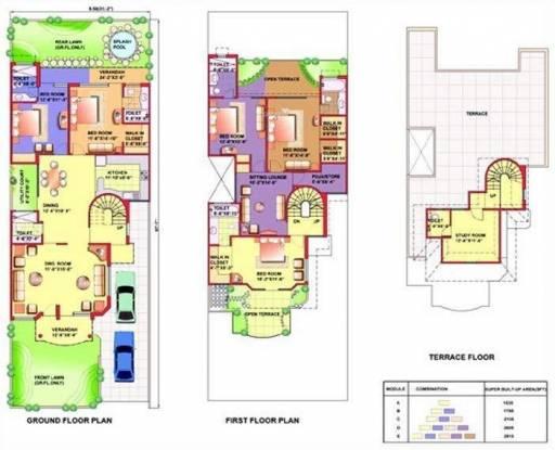 Eldeco Mansionz (5BHK+5T (3,132 sq ft)   Servant Room Villa 3132 sq ft)