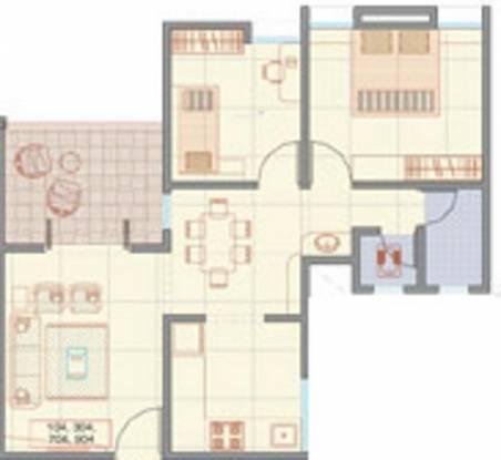 RK R K Spectra (1BHK+1T (826 sq ft) + Study Room Apartment 826 sq ft)