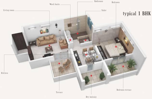 Prime Utsav Homes (1BHK+1T (665 sq ft) Apartment 665 sq ft)
