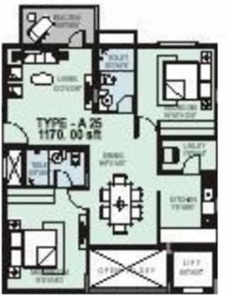 SLV Slv Hm Signature (2BHK+2T (1,170 sq ft) Apartment 1170 sq ft)
