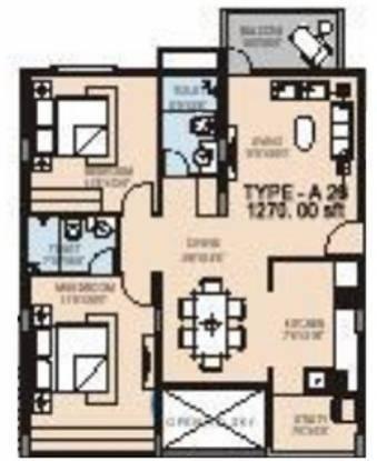 SLV Slv Hm Signature (2BHK+2T (1,270 sq ft) Apartment 1270 sq ft)