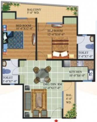 Star Realcon Group The Essentia (2BHK+2T (1,041 sq ft) Apartment 1041 sq ft)