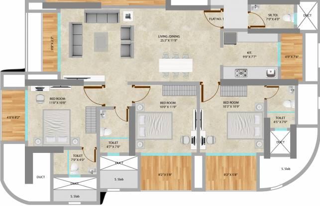 Neumec Chandelier Court (3BHK+3T (2,121 sq ft) Apartment 2121 sq ft)
