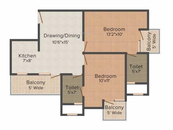 Hawelia Valencia Homes (2BHK+2T (935 sq ft) Apartment 935 sq ft)
