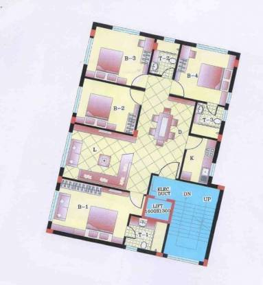 Adya Pearl Residency (4BHK+3T (1,900 sq ft) Apartment 1900 sq ft)