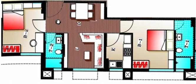 Adya Adya Highrise (2BHK+2T (924 sq ft) Apartment 924 sq ft)