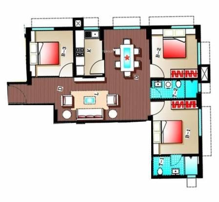 Adya Adya Highrise (3BHK+3T (1,292 sq ft) Apartment 1292 sq ft)